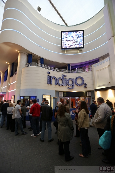 Front Entrance To Indigo @ The O2 Showing Curved Polystyrene Wall Above