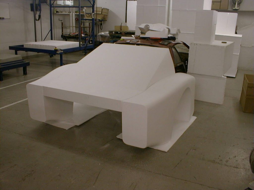 Lancia Beta Montecarlo Rear Wings And Back Window In Plain Polystyrene