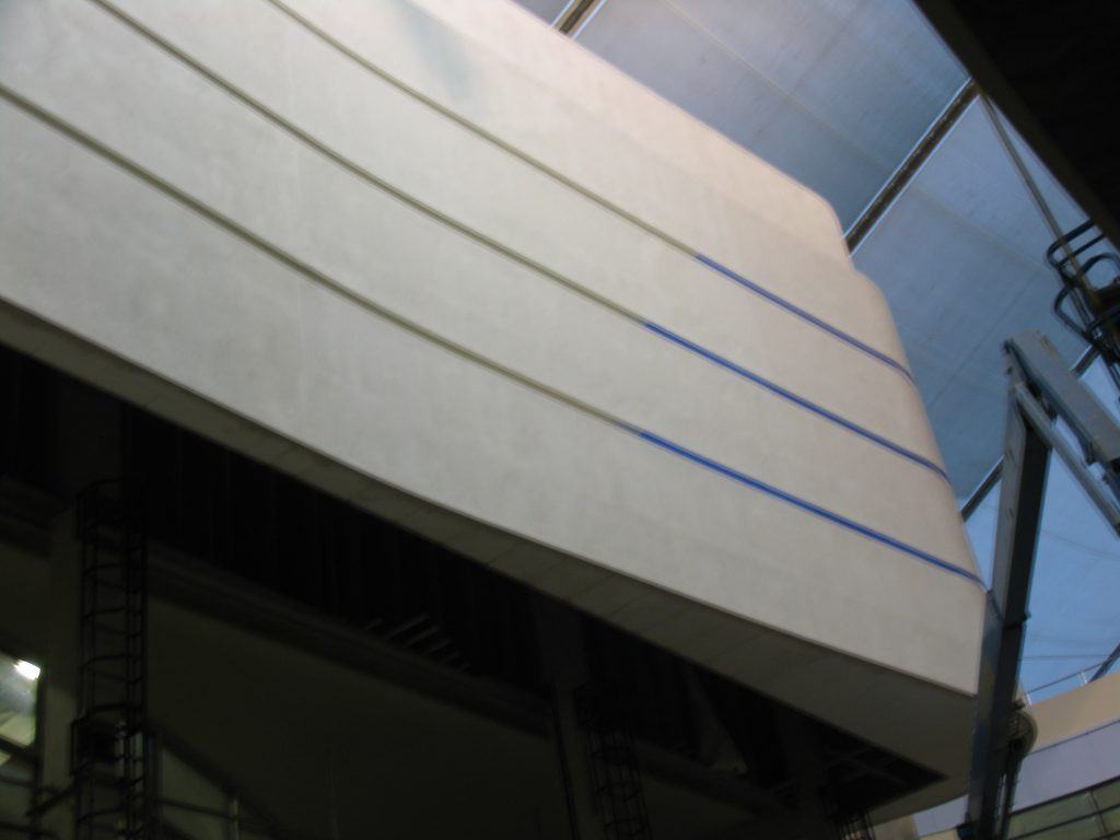 Polystyrene Curved Wall With Render Finish