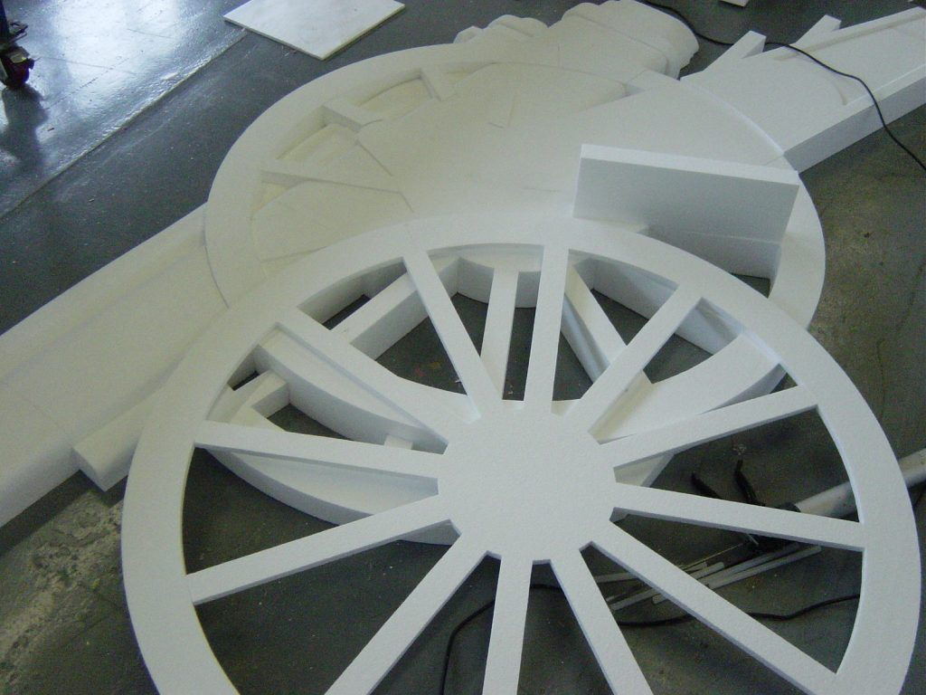 Polystyrene Parts Of The Arsenal Gun