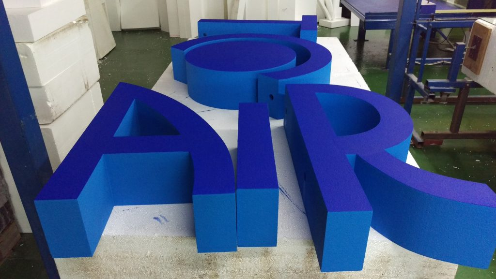 The Aristocrat Letters Painted And Ready To Be Assembled