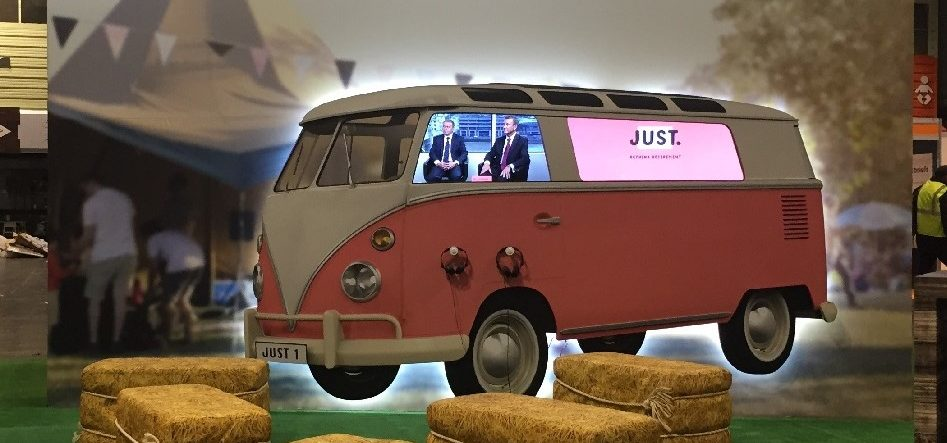 Polystyrene Shaped VW Van With Printed Foamex Face