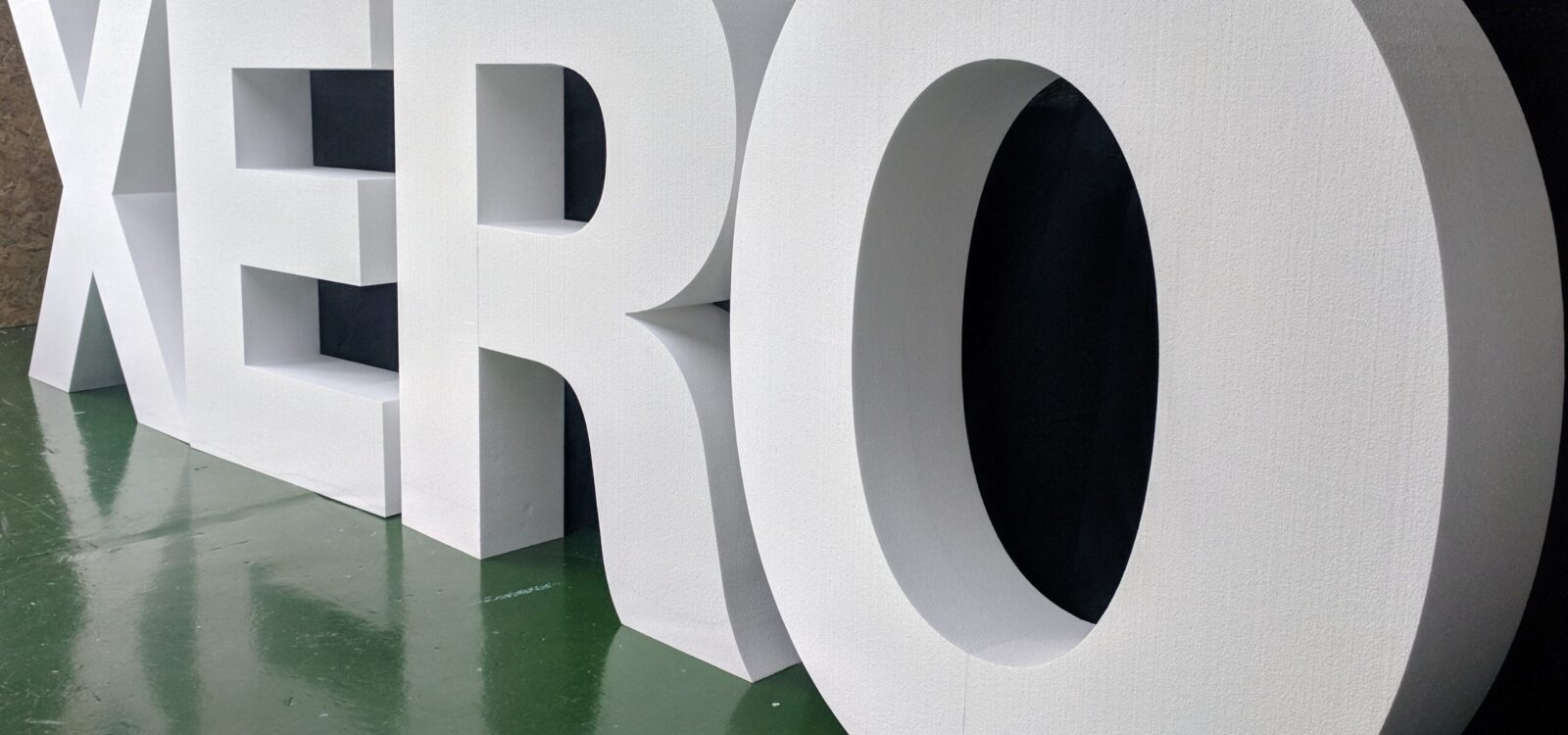 Xero Plain Polystyrene Letters For A Conference