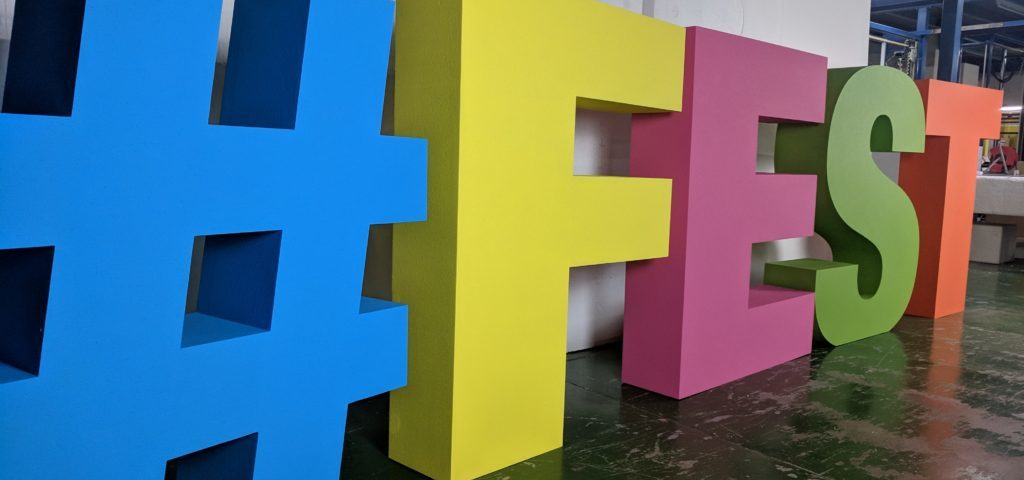 Painted Polystyrene Letters For A Festival #FEST