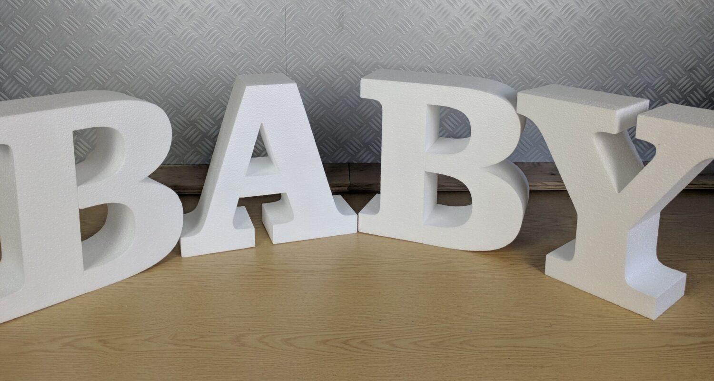 Polystyrene Baby Freestanding Sign