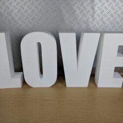 Polystyrene Love Freestanding Letters