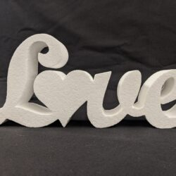 Polystyrene Small Love Freestanding Sign
