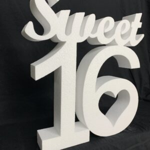 Plain Polystyrene Sweet 16 Sign