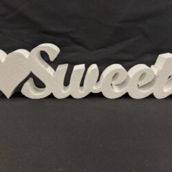 Polystyrene Sweets Freestanding Sign