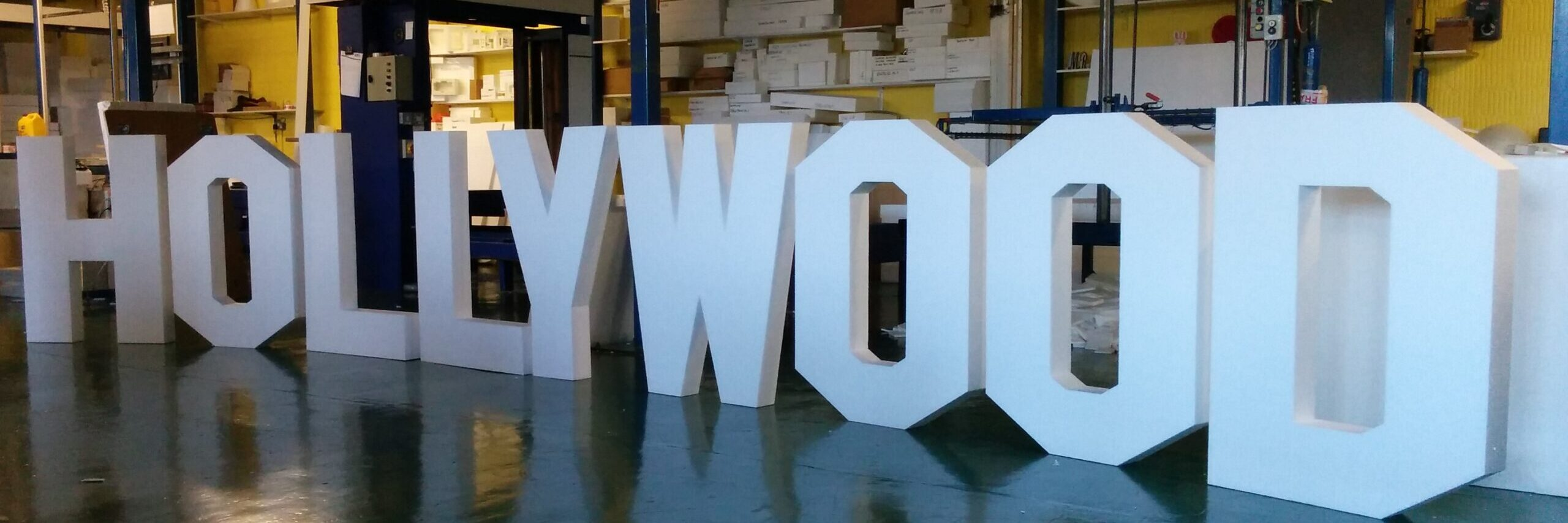 Polystyrene Hollywood Freestanding Sign