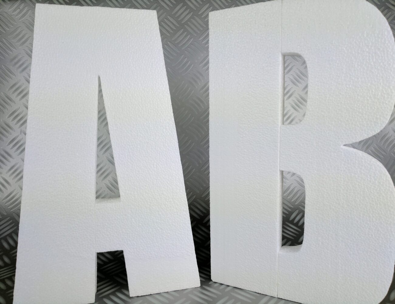 Wall Mountable Plain Polystyrene Letters