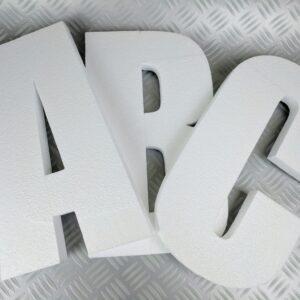 Wall Mountable Plain Polystyrene Letters